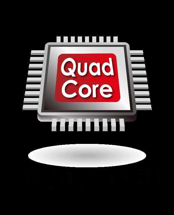 Quad Core Processor Logo 1.6ghz Quad-core Processor