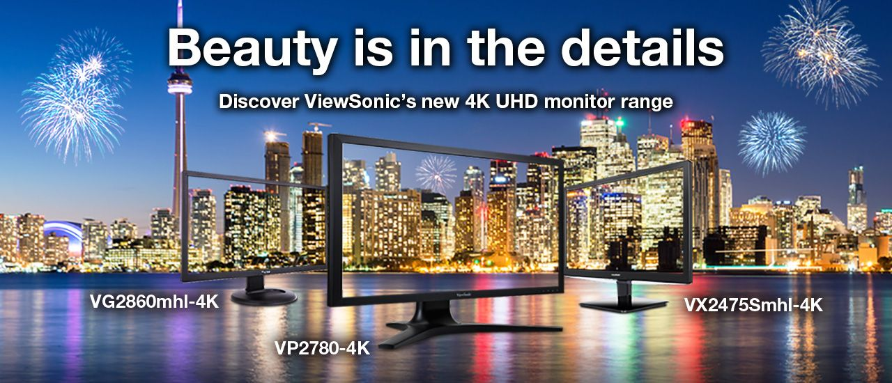 New 4K UHD monitor range